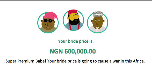 Stereotyped of bride price