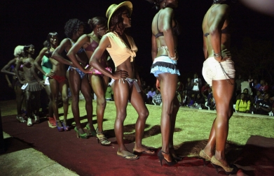 Contestants in Miss Jacaranda pageant for drag queens  (2013)