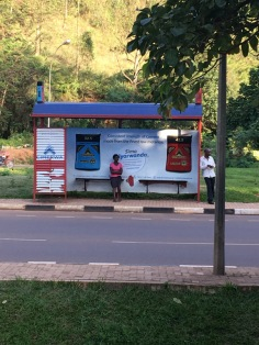 Sponsored bus stop